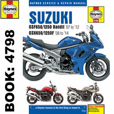 Suzuki gsf650/1250 bandit and gsx650fservice and repair manual.