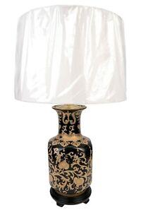 Black-and-Gold-Tapestry-Square-Vase-Porcelain-Table-Lamp-29-034