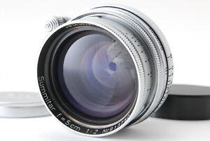034-EXC-034-LEICA-LEITZ-SUMMITAR-50mm-f-2-Original-Front-und-Rear-Cap-aus-Japan