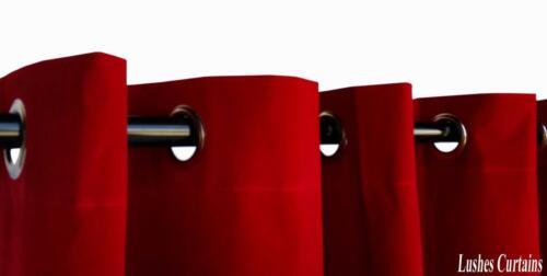 Cherry Red 84 inch H Velvet Curtain Panel w//Grommet Top Eyelets Window Drapes