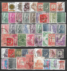 PAKISTAN-STAMP-COLLECTION-PACKET-of-50-DIFFERENT-Stamps
