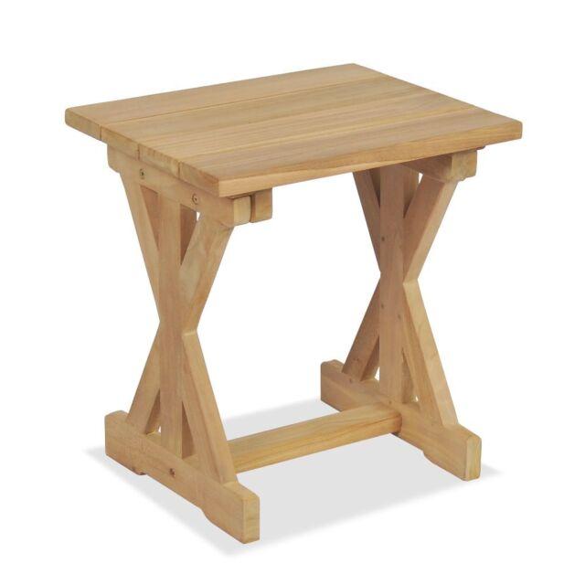 Wooden Stool Solid Teak Wood Garden Indoor Outdoor Furniture Small