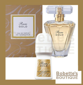 ffae4eaa91c RARE GOLD AVON Eau de Parfum pour Elle 50 ML + Déodorant Bille 75 ML ...