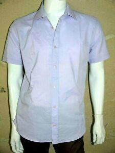 ARMAND THIERY Taille 41/42 - L Superbe chemise manches courtes mauve homme