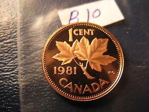 Canada-1981-Gem-BU-Penny-From-Mint-Set-ID-B10