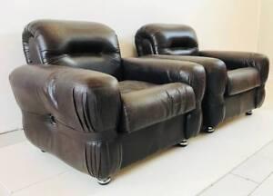 Poltrona Design Anni 70.Poltrona Poltrone Armchair Sedie Pelle Design Anni 70 Vintage Modernariato Ebay