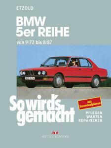 BMW-5er-E12-ab-09-72-Reparaturbuch-Reparaturanleitung-Reparatur-Handbuch-Buch