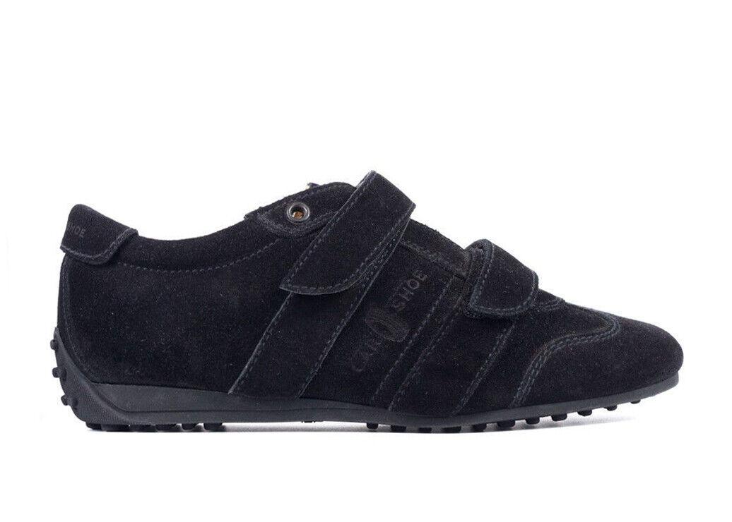 Car zapatos por Prada Mujer Mujer Mujer Gamuza Negra Sujetador zapatillas Talla IT35 US5  rtl  595 e713b2