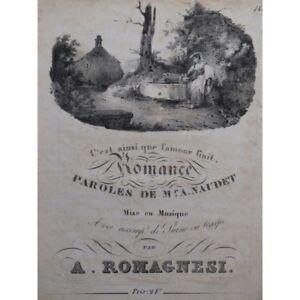 Romagnesi-A-Le-Comienzo-y-la-Fino-Canto-Piano-ca1840-Partitura-Sheet-Music