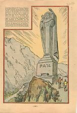 Statue du Christ-Roi Les Houches  Haute-Savoie par Georges Serraz Art déco 1932
