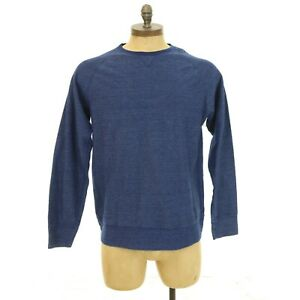 Billy-Reid-Nordstrom-Mens-Textured-Sweatshirt-Size-XL-Crew-Pullover-Blue-EUC-B19