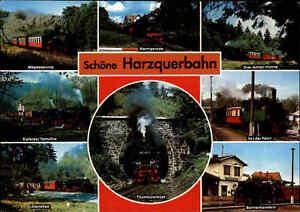 EISENBAHN-Motiv-Postkarte-Harzquerbahn-Harz-Lokomotiven-Zuege-Dampflok-Loks-AK