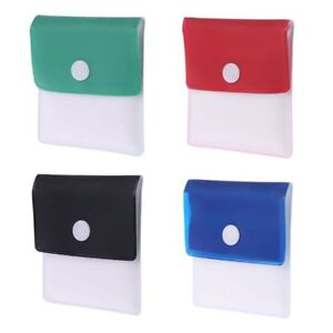 Fireproof PVC-Odor free-Portable Compact Assorted Color Ash Trays 2 pcs Pocket Ashtray Pouch