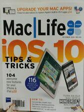 Mac Life October 2016 iOS 10 Tips and Tricks i phone i pad FREE SHIPPING