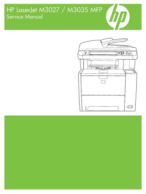 Contains Parts and Diagrams HP Laserjet 4500 4550 MFP Service Manual
