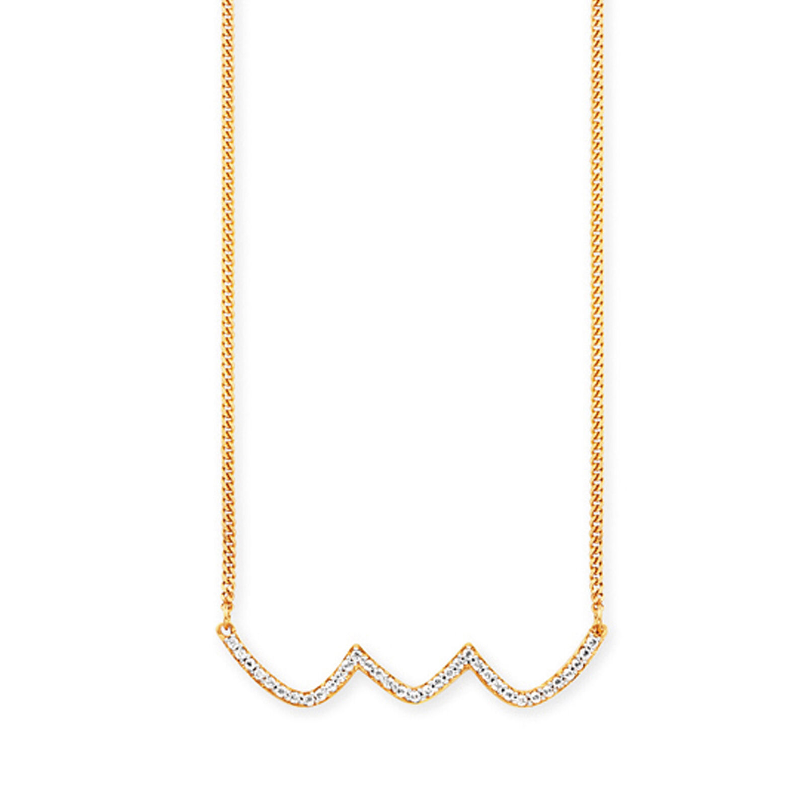 CAI donna Collier 925 925 925 Sterling argentoo dorato Topaz Onde DONNA NUOVO CAI 104d6d