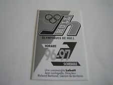 1996/97 QMJHL OLYMPIQUES DE HULL POCKET SCHEDULE**QUEBEC MAJOR JUNIOR HOCKEY**
