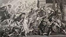 Rubens Apothéose Henri IV Régence Marie de Médicis gravure héliogravure XIX 1868