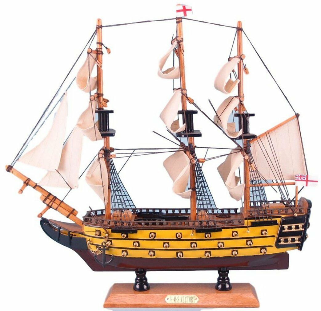 Large Large Large Detailed wooden assembled display model of the HMS Victory 23a17b