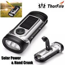 ThorFire Solar Powered Hand Crank Waterproof Torchlight LED Emergency Flashlight