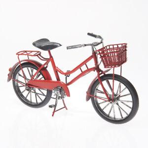 27cm Rotes Fahrrad Citybike Deko Blech Korb Gepäckträger Biker Geschenk Metall HeißEr Verkauf 50-70% Rabatt
