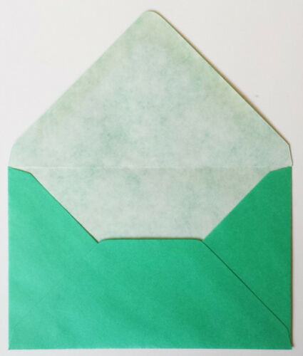 60 Jade Green Pearlised Envelopes 9cm x 14cm EB219