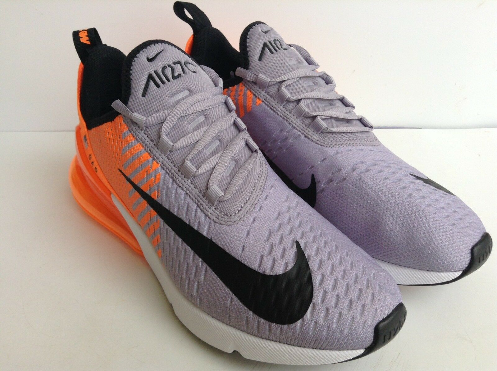 NIKE ORANGE-PURE AIR MAX 270 ID ORANGE-PURE NIKE PLATINUM- gris - Noir -blanc MNS.SZ 8.5 a49b98