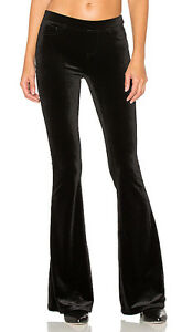 1438d8e016558 Blank NYC Velvet Black Pull-On Flare Leg In New Black Pants 24 25 26 ...