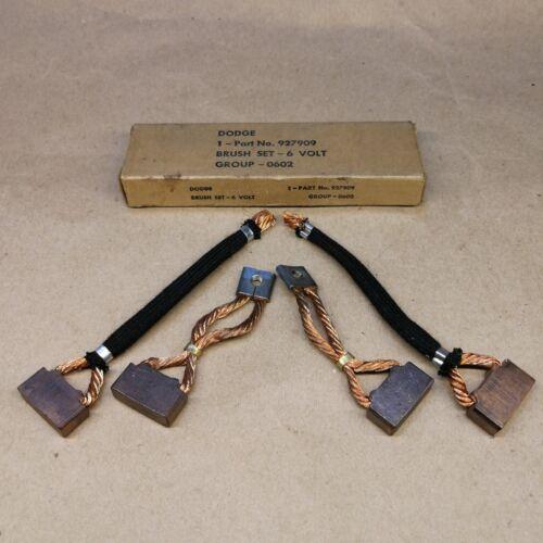 FOR CHRYSLER PLYMOUTH DODGE NOS STARTER BRUSH SET 6 V