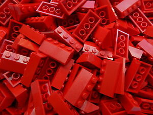 LEGO-Roof-Slopes-Tiles-RED-2x4-pack-of-50-pieces-BRAND-NEW