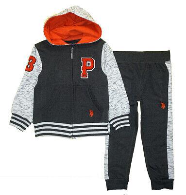 US Polo Assn Toddler Boys Fleece Jacket 2pc Sweat Pant Set Size 2T 3T 4T $44