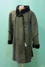 Traumhafter Lamm-Fell Mantel shearling Gr 42/ca XL Kürschner echt Leder vintage