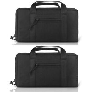 2X-Tactical-Padded-Pistol-Handgun-Storage-Bag-Polyester-Zipper-Carry-Pouch-Gun