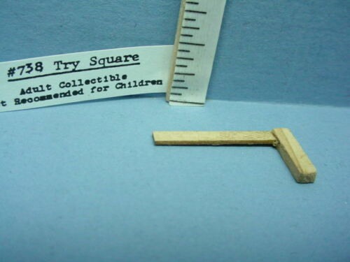 Miniature Try Square Handcrafted  #738 Sir Thomas Thumb Non-Working