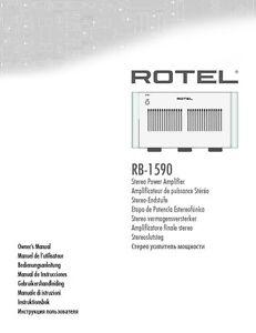 rotel rb 1590 amplifier owners instruction manual ebay rh ebay com