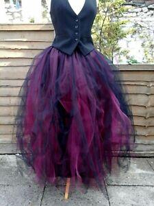 womens-tutu-skirt-tulle-black-burgundy-wedding-steampunk-adult-maxi-gothic-gypsy