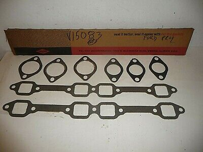New 1954-1964 Ford Mercury V8 239-256-272-292-312 Exhaust Manifold Gaskets