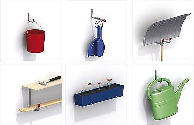 ALFER Wandhaken Deckenhaken Allzweckhaken Garderobenhaken Gerätehalter Stahl