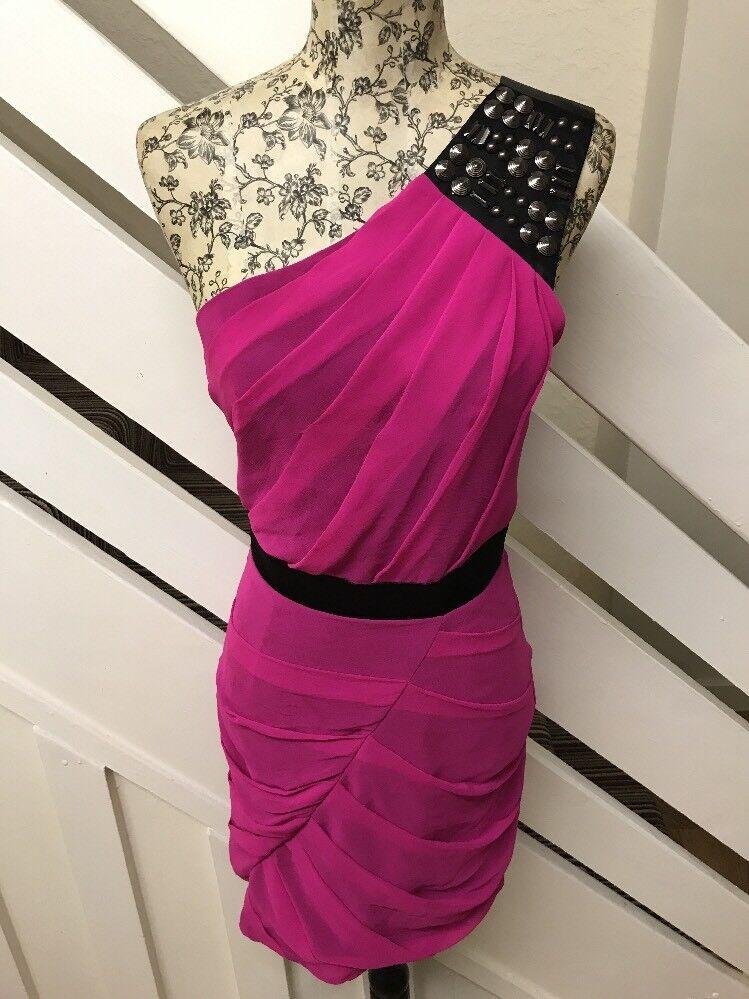 NEW Lipsy Evening  Party Club Mini Dress Single Shoulder Studded Sz RRP