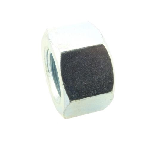 Sechskant-Hutmuttern niedrige Form DIN 917 6 AU Stahl blank