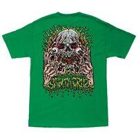 Santa Cruz Jimbo Phillips Face Ripper Skateboard T Shirt Kelly Green Medium on Sale