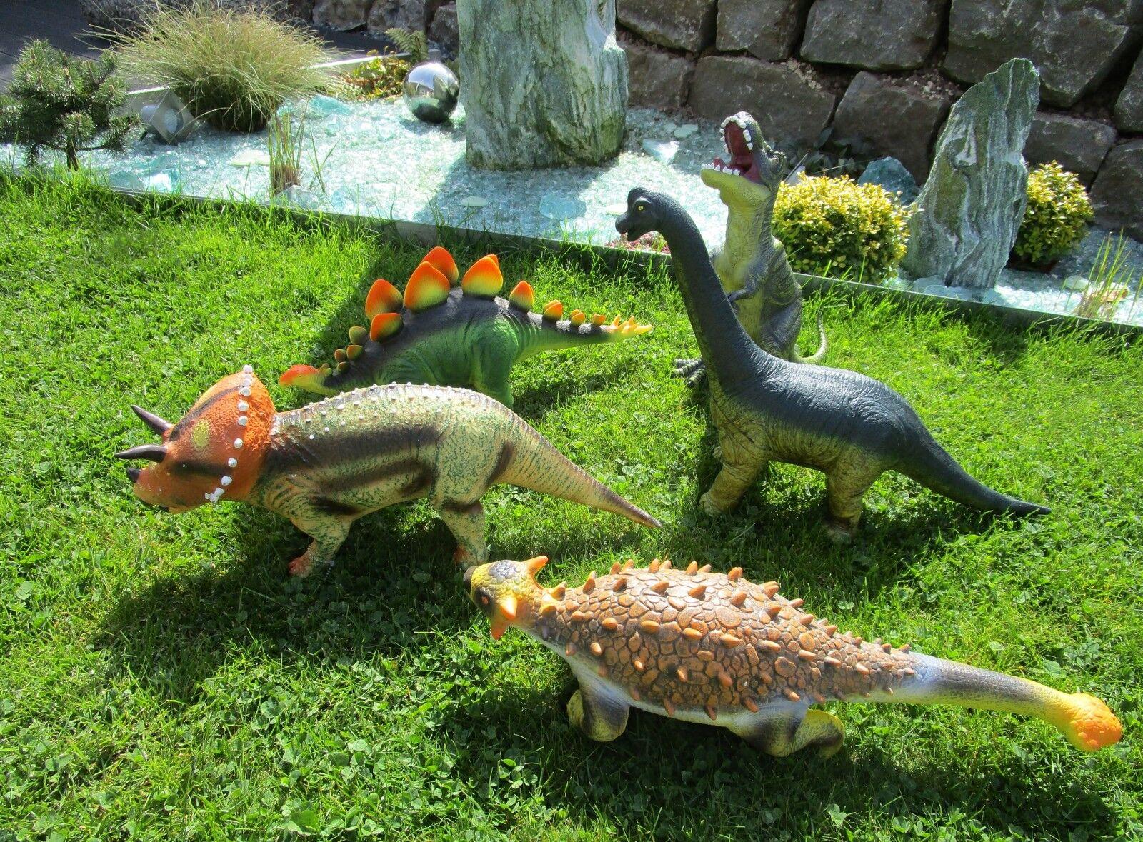 XXL dinosauri 5er Set Dinosauri personaggio TYRANNOSAURUS REX knautsch animali Top 30180