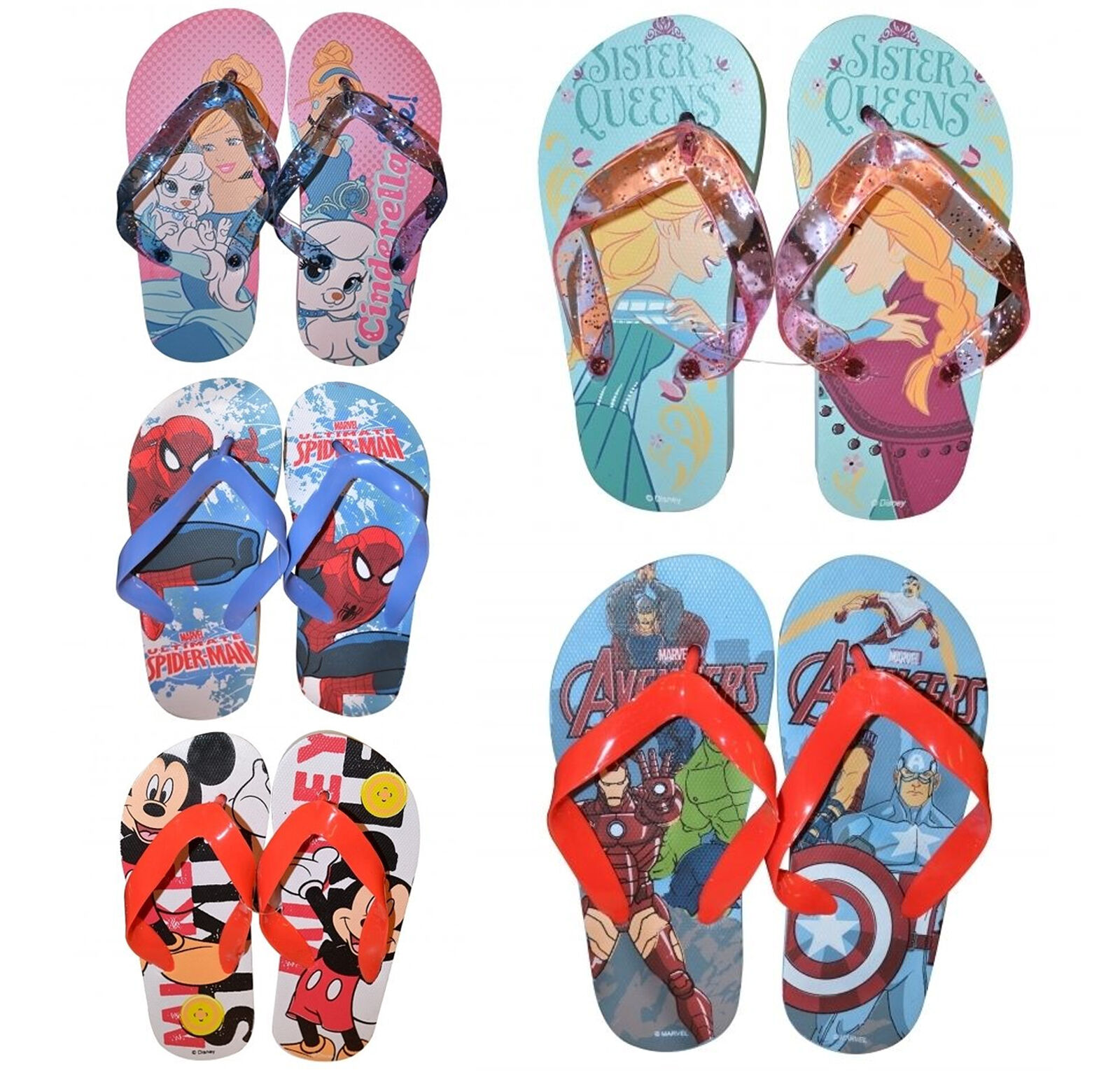 kinder disney figur princess frozen avengers flip flop strand schuhwerk ebay. Black Bedroom Furniture Sets. Home Design Ideas