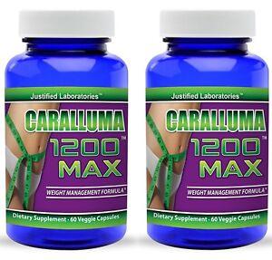 Caralluma Fimbriata 1200 Natural Fat Burner Appetite Suppressant Pills 2 Pack