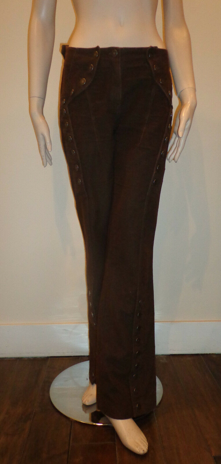 GAETANO NAVARRA Womnes Chocolate Brown Boot leg Pants Euro SZ 42 US SZ 8