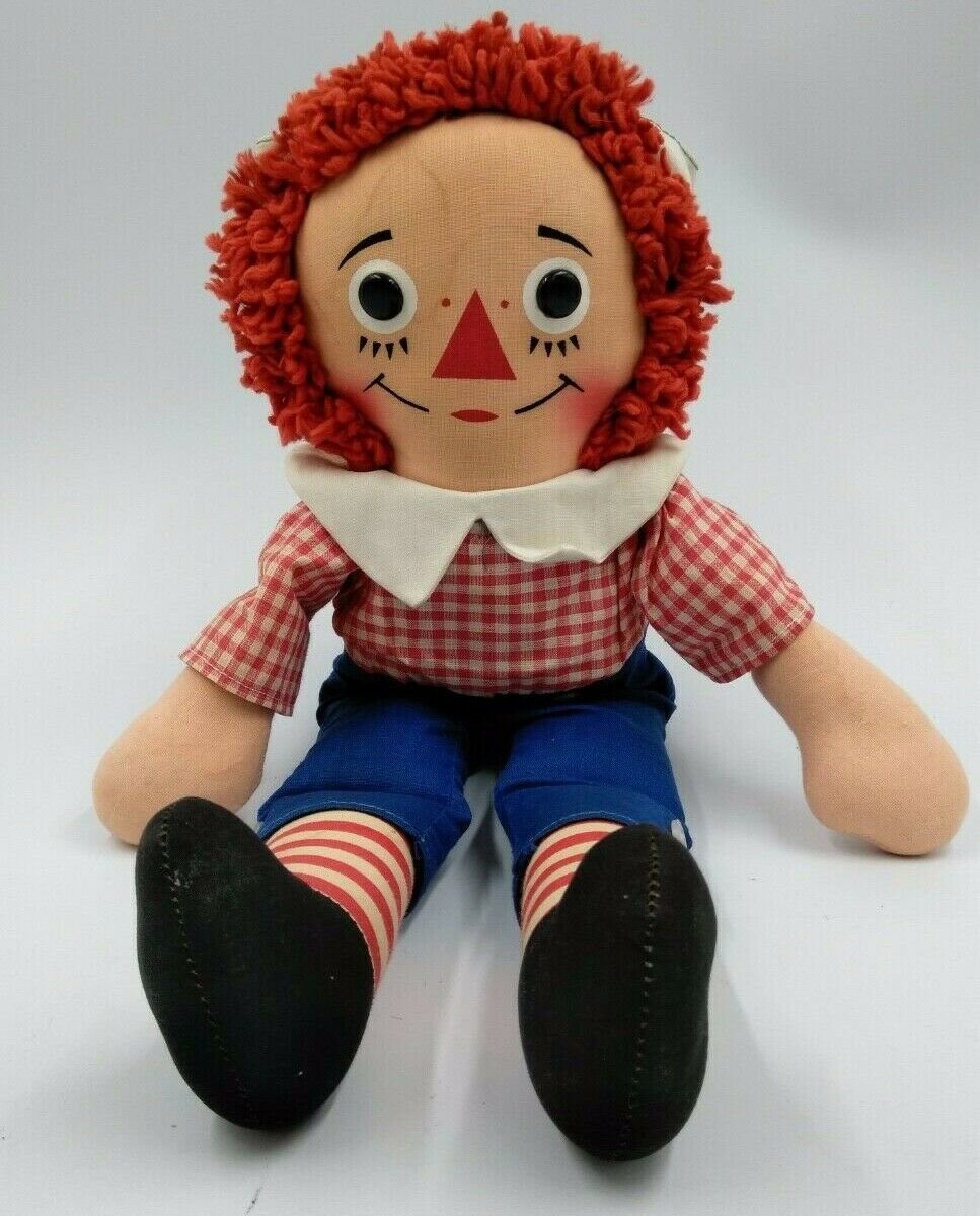 Raggedy Andy with Original Tagged Outfit 15  Vintage Knickerbocker toy doll