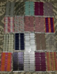 HUGE-Lot-JAMBERRY-Nail-Wraps-20-FULL-SHEETS-Exclusives-Retired-Styleboxes