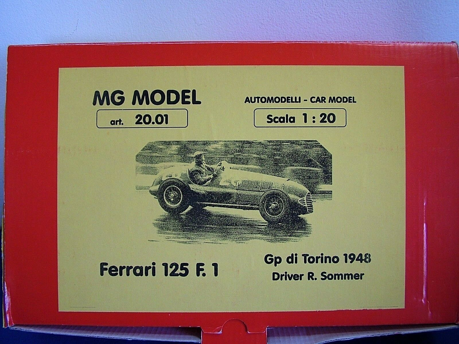 MG modellllerL PLUS 20.01 - 1948 FERRARI 125 F1 20TH skala hkonsts &METAL KIT