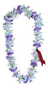 Hawaiian Lei Party Luau Floral Leilani Carnation Silk Dance Flower Red