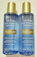 2 Neutrogena Oil Free Eye Makeup Remover Liquid Cleanser ( Lot Of 2 )